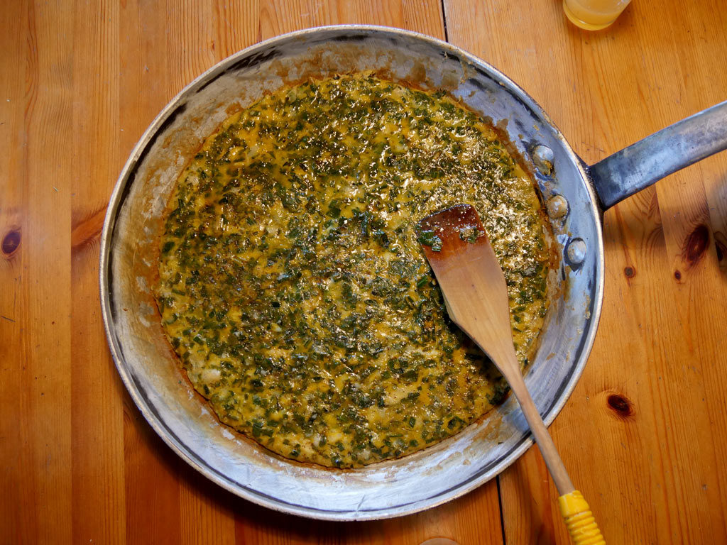 Omelette bio et végétarienne