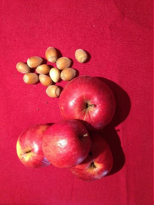Pommes, noisettes